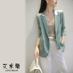 【艾米蘭】韓版簡約條紋西裝外套 (S~XL)