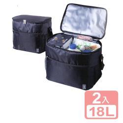 真心良品xUdlife 酷黑保溫保冷袋18L-2入組