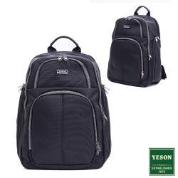 YESON - 台灣精品簡約百搭耐磨透氣氣墊後背包-黑