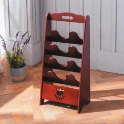 【AS】典雅胡桃木色八格拖鞋架-32×19×70cm(DIY自行組裝商品)