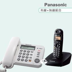 Panasonic 松下國際牌數位子母機電話組合 KX-TS580+KX-TG3611 (經典白+經典黑)