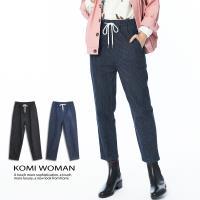 【KOMI】 丹寧條紋鬆緊綁帶牛仔褲.二色 (1828-810263)