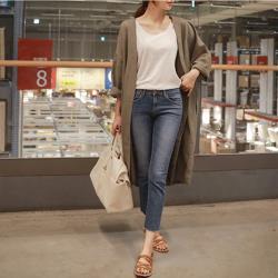 【GF 快時尚】簡約百搭素色風衣外套 (S~XL)