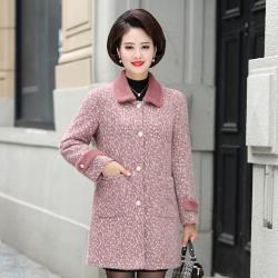 【艾洛妃】細緻雪絨翻領拼接口袋造型氣質款毛呢大衣 (2色任選)
