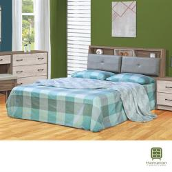【Hampton 漢汀堡】艾莉西雅雙色6尺雙人床組