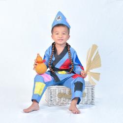 Angeljieji-萬聖節童裝系列-搞怪乞丐濟公裝(90-120cm)