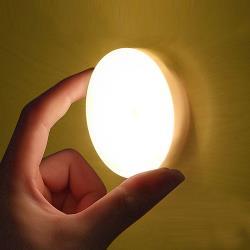 充電式便攜磁吸觸控LED圓形小夜燈(1入)