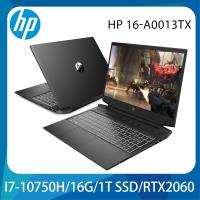 HP惠普 Gaming 16-A0013TX 電競筆電 16吋/i7-10750H/16G/1T SSD/RTX2060/W10