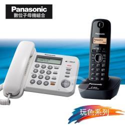 Panasonic 松下國際牌數位子母機電話組合 KX-TS580+KX-TG3411 (經典白+經典黑)