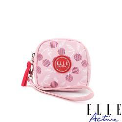 【ELLE Active】法式櫻桃系列-零錢包-粉紅色