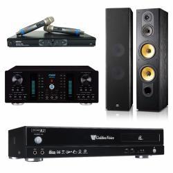 金嗓 CPX-900 R2電腦伴唱機 4TB+A-350 擴大機+MR-865 PRO 無線麥克風+SD-803 主喇叭