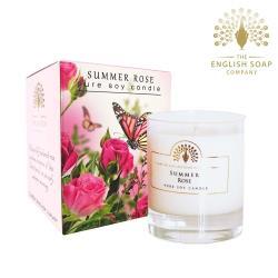 英國 The English Soap Company 夏日玫瑰 Summer Rose 170g 綴花卉香氛蠟燭