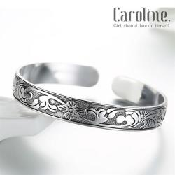 《Caroline》★925鍍銀手環.梅花藤葉典雅設計優雅時尚品味流行時尚手環69830