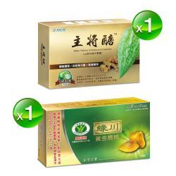 【立川集團】綠川黃金蜆錠+主將醣山苦瓜複方膠囊醣朝平定組