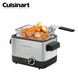 Cuisinart美膳雅 1.1L 不鏽鋼輕巧型溫控油炸鍋 CDF-100TW