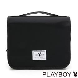 PLAYBOY-  盥洗包 率性元素系列- 黑色