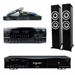 音圓 S-2001 N2-350 專業型卡拉OK點歌機 4TB+BT-889 PRO 擴大機+MR-865 無線麥克風+S-6601 主喇叭(黑)