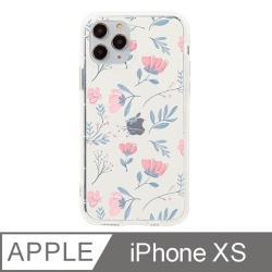 iPhone X/Xs 5.8吋 晨粉芙蓉設計防摔透明iPhone手機殼