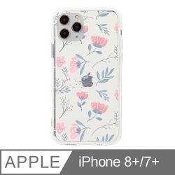 iPhone 7/8 Plus 5.5吋 晨粉芙蓉設計防摔透明iPhone手機殼
