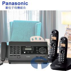 Panasonic 松下國際牌傳真/無線電話組合 KX-FT501+KX-TG3612 (經典黑)
