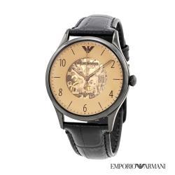 EMPORIO ARMANI 貝達系列鏤空時尚精品機械腕錶-AR1923