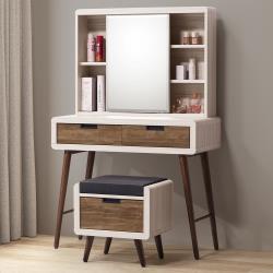 Homelike 法閣3尺化妝桌椅