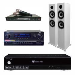 金嗓 CPX-900 A5電腦伴唱機 4TB+DW 1 擴大機+LM-750 無線麥克風+S-6601 主喇叭(白)