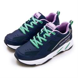 【GOODYEAR 固特異】女 經典復古慢跑鞋 WALK QUEEN 2老爹鞋系列(藍紫綠 92826)