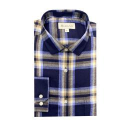 [MURANO]法蘭絨長袖襯衫-復古藍(M~2XL)