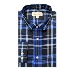 [MURANO]法蘭絨長袖襯衫-藍(M~2XL)