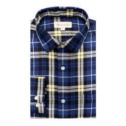 [MURANO]法蘭絨長袖襯衫-藍米(M~2XL)