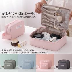 【Sayaka紗彌佳】日系簡約純色旅行便攜大容量化粧收納包 (大+小款)2件組