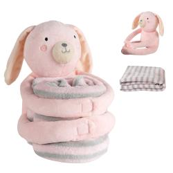 蓋毯包巾嬰兒被-安撫娃娃+抱被彌月禮