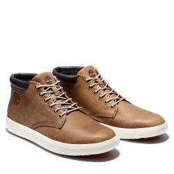 Timberland 男款中棕色磨砂革休閒鞋A2AMJ254