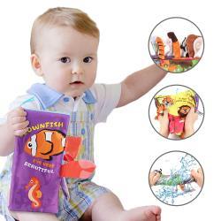【2入】布書 可愛動物尾巴安撫玩具 學前教育 簡易英文童書