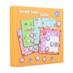 兒童啟蒙早教玩具 木製九宮格動物益智桌面遊戲