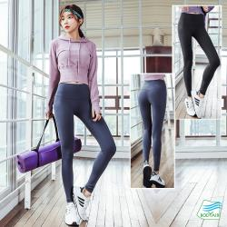 【BODYAIR嚴選】寬腰束腳挺翹蜜桃褲(運動.健身.慢跑)