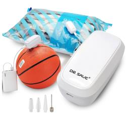 摩肯 DR. SAVE 充抽兩用插電款真空機(白)-含2大2小收納組贈1透明袋