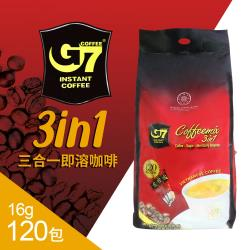 G7 三合一即溶咖啡120包組(16g*120包)