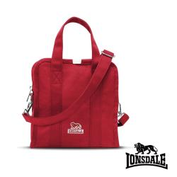【LONSDALE】英國60周年經典小獅包-帆布斜背小方包 LD1315-紅色