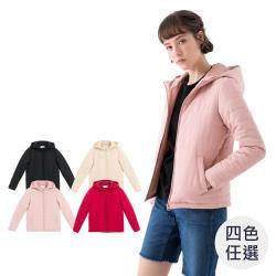 GIORDANO  女裝素色鋪棉連帽外套 (多色任選)