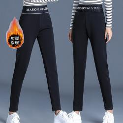 麗質達人 - 11656黑色加厚保暖長褲