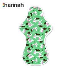 韓國 hannahpad 有機純棉布衛生棉-夜用加長36cm-綠色女孩-1片入