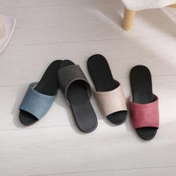 【333家居鞋館】質感仿皮★經典室內皮拖鞋