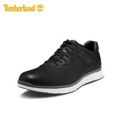 Timberland 男款黑色全粒面皮革休閒鞋A1IWS001