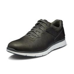 Timberland 男款中灰色全粒面皮革休閒鞋A1HNYF49