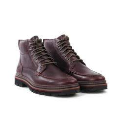 Timberland 男款深酒紅防水全粒面革靴A28ZZ211