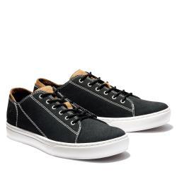 Timberland 男款黑色帆布休閒鞋A1ZRT015