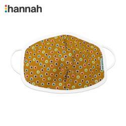 韓國 hannahbebe 兒童有機純棉布口罩-薑黃色點點-1入