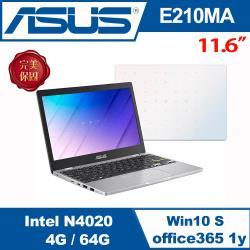 ASUS華碩 E210MA-0021WN4020 輕薄小筆電 夢幻白 14吋/N4020/4G/64G eMMC/W10S/送Office365